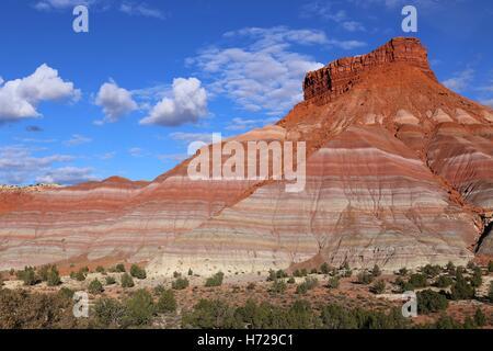Colorful Hills in Paria Movie, Grand Staircase-Escalante National Monument, Utah - Stock Photo