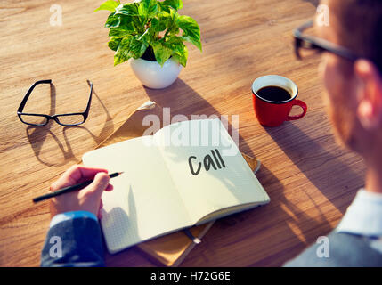 Call Planner Urgent Attention Concept - Stock Photo