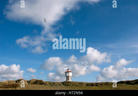 Water tower on the North Sea island Langeoog, Lower Saxony - Stock Photo