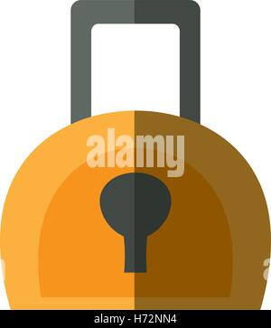 security padlock isolated icon vector illustration design - Stock Photo
