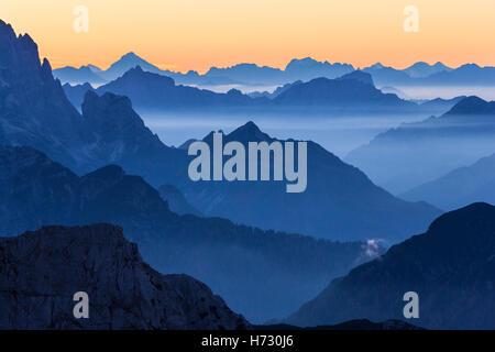 Mountain peaks background - Stock Photo