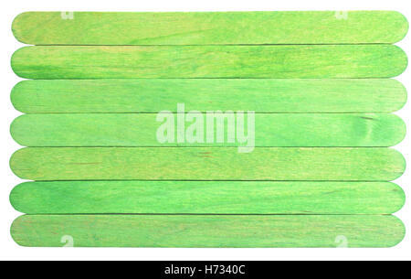 green sticks isolated on white background - Stock Photo