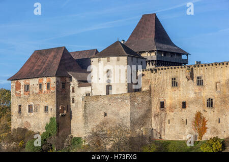 Lipnice Castle, one of the mightiest Czech aristocratic castles, Vysocina region, Czech Republic - Stock Photo