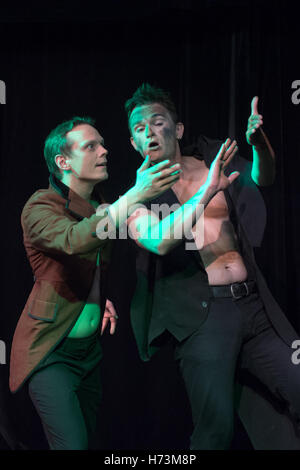 Dresden, Germany. 02nd Nov, 2016. Mines Jan Romberg and Lukasz Szydlik (R) from Poland rehearse the piece 'Faust' - Stock Photo
