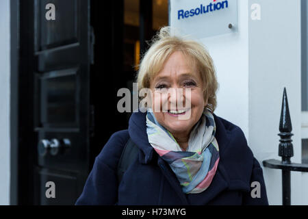 Margaret Hodge MP arrives to speak at the Resolution Foundation about its report on tax policy and post Brexit tax - Stock Photo
