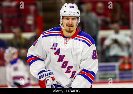 October 29, 2016 - Raleigh, North Carolina, U.S - New York Rangers right wing Pavel Buchnevich (89) during the NHL - Stock Photo
