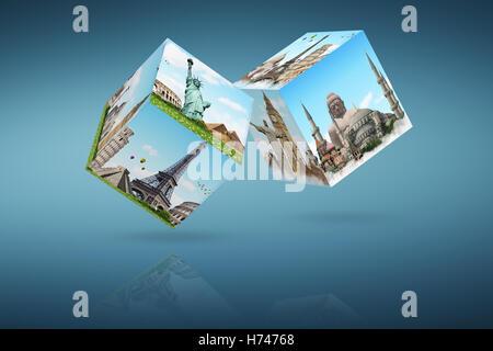 emblems statues - Stock Photo