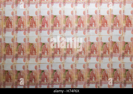 Russian banknotes five thousand rubles - Stock Photo
