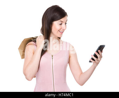woman telephone phone skirt humans human beings people folk persons human human being laugh laughs laughing twit - Stock Photo
