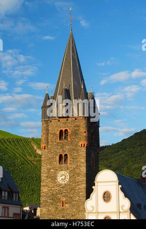 St Michael's Church, Bernkastel-Kues, Rhineland-Palatinate, Germany - Stock Photo
