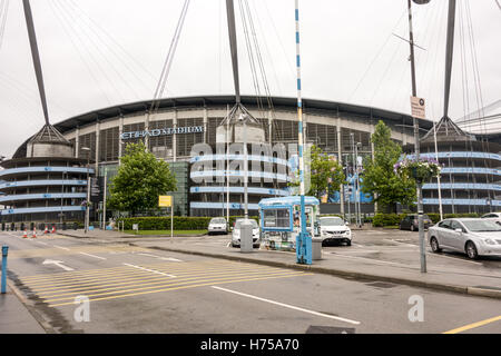 Commonwealth Games and is now home to one of the Premier League football clubs, Manchester City based in Manchester. - Stock Photo
