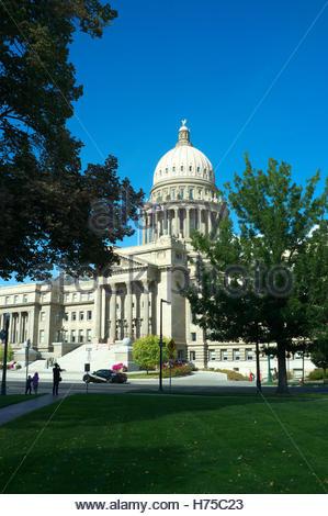 Idaho State Capitol building, in Boise, Idaho, USA. - Stock Photo