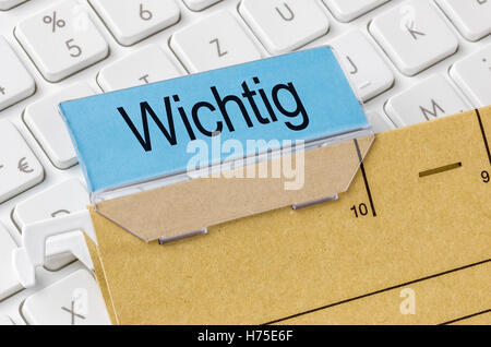 act labeled important - Stock Photo