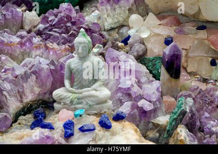 the crystal garden in pure land meditation centre and japanese garden near newark nottinghamshire england uk - Crystal Garden