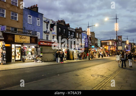 Camden Lock, also known as Hampstead Road Locks is one of the main tourist attractions for night life in Central - Stock Photo