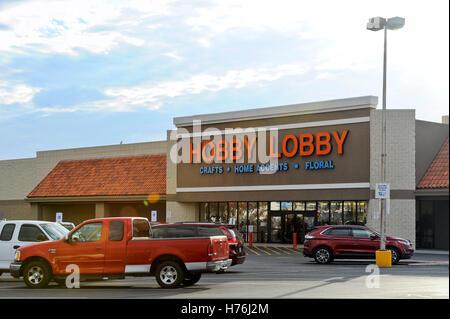 Hobby Lobby storefront Lake Havasu City, Arizona - Stock Photo