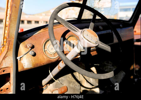 close up of the steering wheel of an abandoned rusty old car stock photo royalty free image. Black Bedroom Furniture Sets. Home Design Ideas