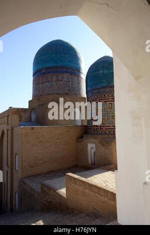 Mausoleums in Shah-i-Zinda necropolis, Samarkand, Uzbekistan. - Stock Photo