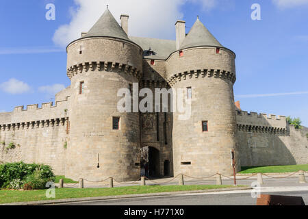 A gate in the walls of Guerande, Loire-Atlantique, France - Stock Photo