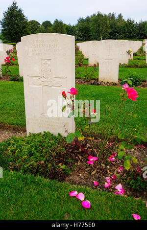 BAYEUX, FRANCE - SEPTEMBER 20, 2012: The memorial and WWII cemetery in Bayeux, Normandy, France. - Stock Photo