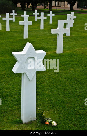 COLLEVILLE-SUR-MER, FRANCE - SEPTEMBER 21: The American World War II Cemetery in Colleville-sur-Mer, Normandy, France, - Stock Photo