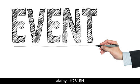 event written by hand, hand writing on transparent board, photo - Stock Photo