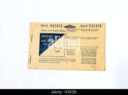 Motor Fuel ration Book - UK 1949 - Stock Photo