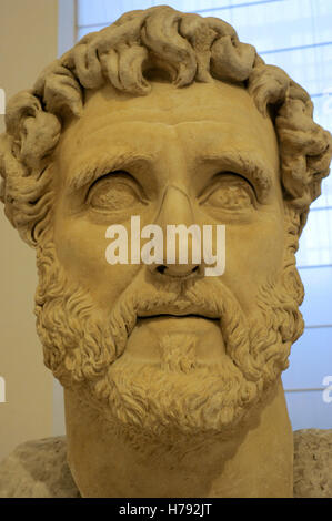 Antoninus Pius (86 AD-161 AD). Roman emperor. Nerva Antonine dynasty. Bust, 138-161 AD. National Archaeological - Stock Photo