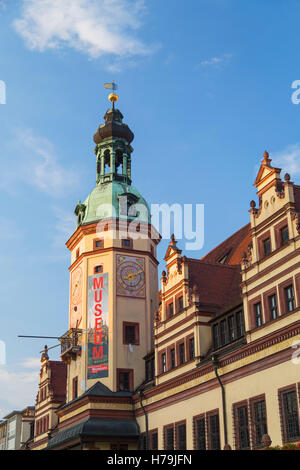 Old Town Hall (Altes Rathaus), Leipzig, Saxony, Germany - Stock Photo