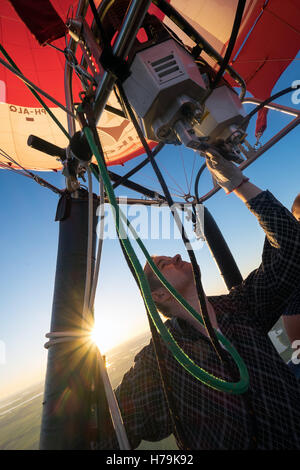Air Ballooning, the Netherlands - Stock Photo