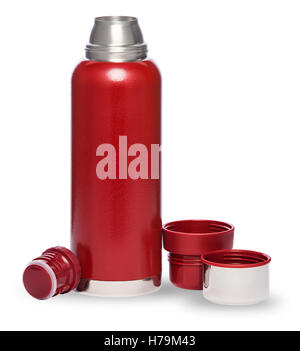 Thermo bottle isolated on white background - Stock Photo