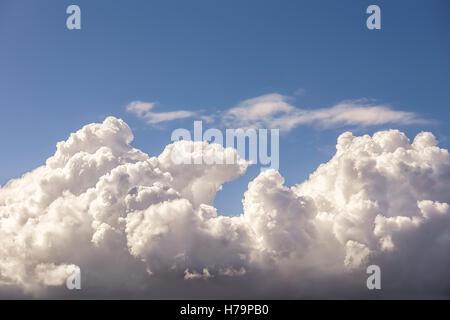 beautiful cloudscape with cumulonimbus clouds and blue sky - Stock Photo