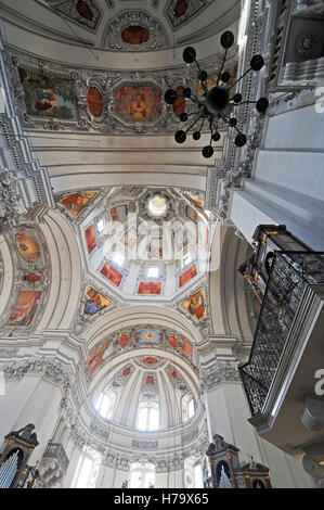 Salzburg cathedral ceiling, Austria - Stock Photo