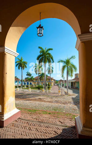 a traditional spanish colonial hacienda style painted