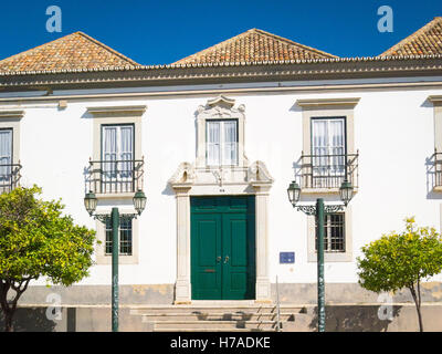 Portugal Algarve 4th c BC ancient old city port Faro Bishop's Palace originally built 1585 reconstructed after British - Stock Photo