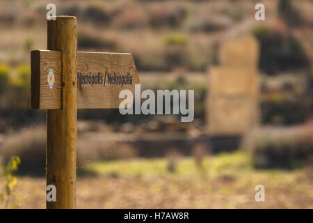 Santa Criz roman city ruins and Eslava village. Navarre province. Spain - Stock Photo