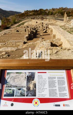 Ruins of Santa Criz Roman city. Eslava village. Navarra province. Spain. Europe - Stock Photo