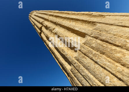 Ruins of Santa Criz Roman city. Eslava village. Navarra province. Spain. Europe - Stock Photo