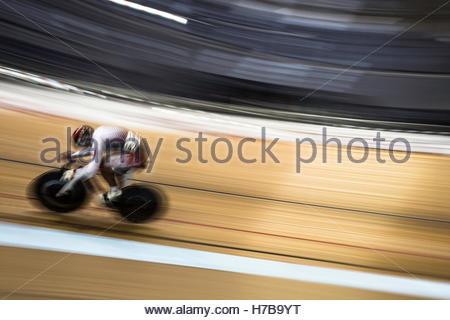 Sir Chris Hoy Velodrome, Glasgow, UK. 4th November 2016. AMAGAI Kazuki of Japan in action during the Track World - Stock Photo