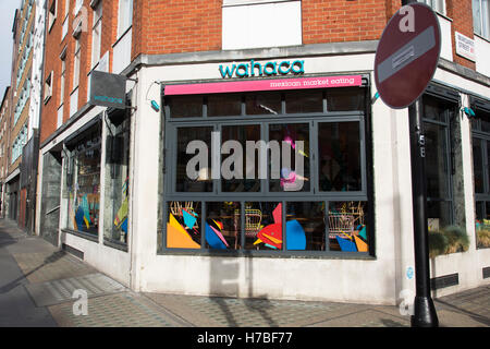 Following a suspected outbreak of norovirus, several branches of the Wahaca Mexican food chain were closed after - Stock Photo