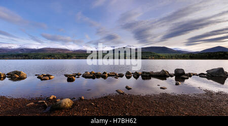 Loch Morlich and Cairngorm Mountains