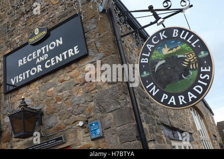 Masham North Yorkshire the Black Bull in Paradise brewery tap pub at the Theakston brewery UK - Stock Photo