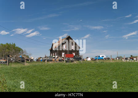 Old House and junk - Stock Photo