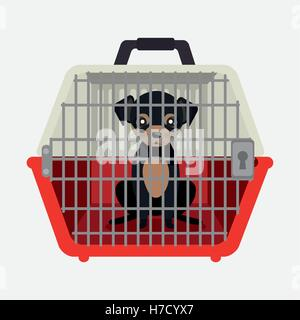 puppy pet travel carrier icon vector illustration eps 10 - Stock Photo