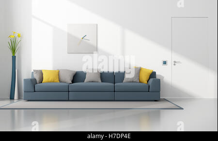 White and blue modern lounge