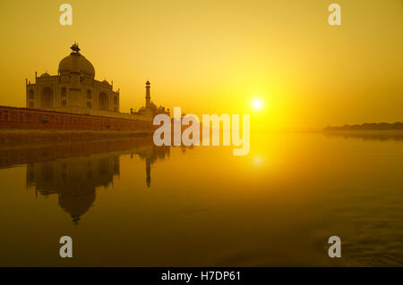 Taj Mahal sunset - Stock Photo