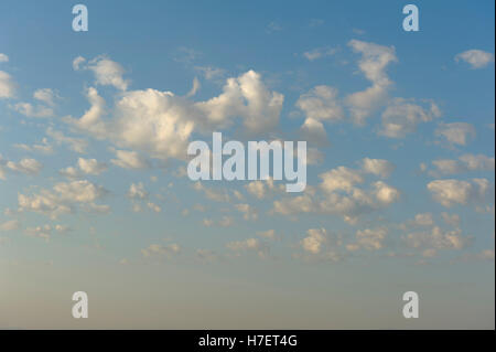 Colorful sunset clouds in Spanish sky - Stock Photo