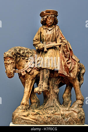 The Holy St  Martin ( 316 - 397) was Bishop of Tours 15th Century  France French - Stock Photo