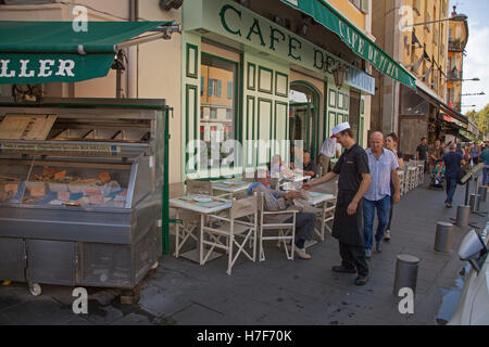 The Café de Turin in Place Garibaldi Vieux Nice - Stock Photo