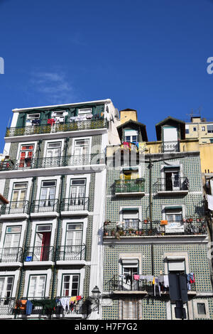 Brightly coloured buildings - Stock Photo
